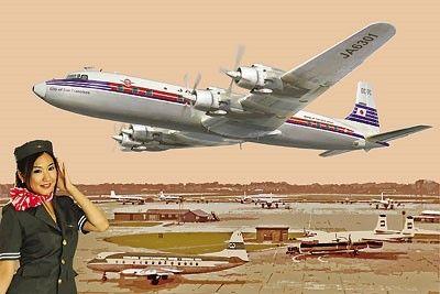 1/144 DC7C Japan Airliner (D) - Roden 303