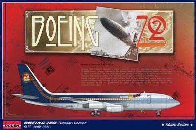 1/144 B720 Caesar's Chariot Led Zeppelin Tour Passenger Airliner - Roden 317