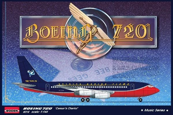 1/144 B720 Caesar's Chariot Bee Gees 1979 USA Tour Airliner - Roden 318