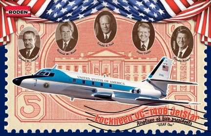 1/144 VC140B Jetstar US Air Force One Presidential Aircraft - Roden 324