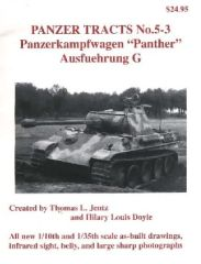 Panzer Tracts No.5-3 PzKpfw Panther Ausf G