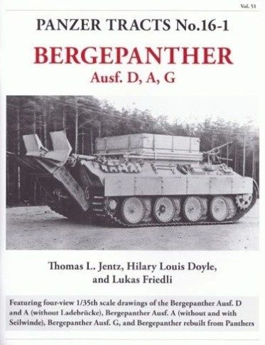 Panzer Tracts No.16-1 Bergepanther Ausf D/A/G