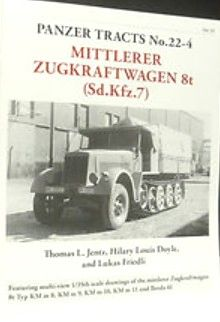 Panzer Tracts No.22-4 mZgkw 8t (SdKfz 7)