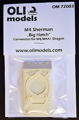 "1/72 M4 SHERMAN ""Big Hatch"" RESIN Conversion - OLI Models 72003"