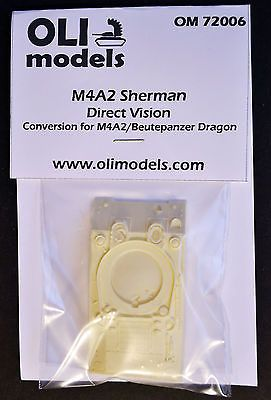 1/72 M4A2 SHERMAN DV Direct Vision RESIN Conversion - OLI Models 72006