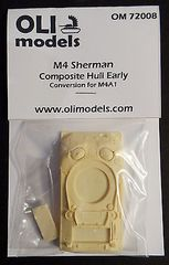 1/72 M4 SHERMAN Composite Hull Early RESIN Conversion - OLI Models 72008