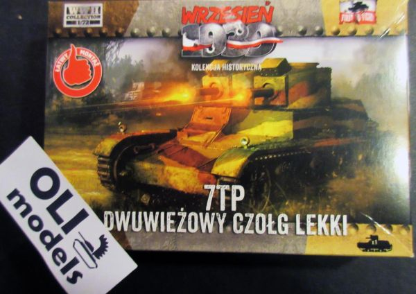 1/72 WWII 7TP Double Turret Polish Light Tank - First to Fight 32