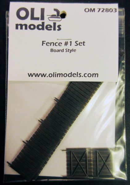 "1/72 FENCE #1 Set ""Board Style"" for Vignette/Diorama - OLI Models 72803"
