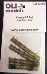 "1/72 FENCE #3 Set ""Small Picket Style"" for Vignette/Diorama - OLI Models 72805"