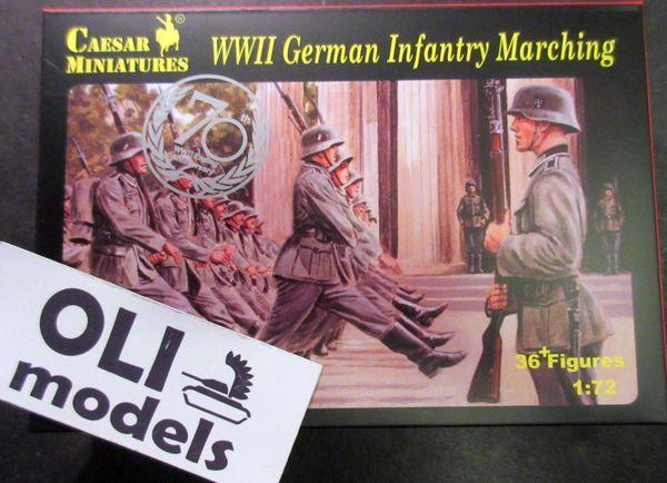 1/72 WWII German Infantry Marching (36) - Caesar 81