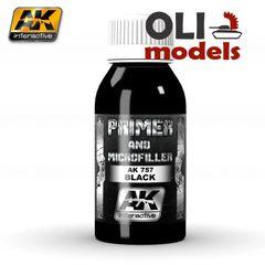 Black Primer & Microfiller 100ml Bottle - AK Interactive 757