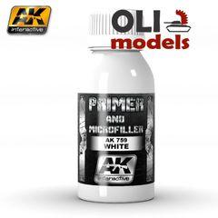 White Primer & Microfiller 100ml Bottle - AK Interactive 759