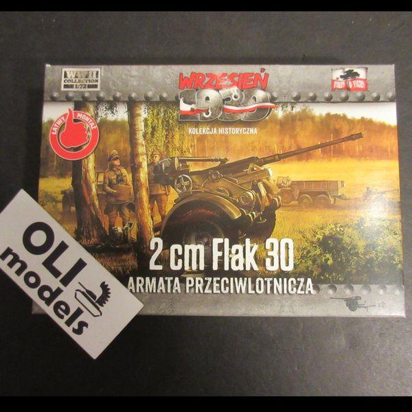 1/72 German 2cm Flak 30 AA Gun w/trailer - Set of 2 - First to Fight 035