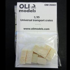 1/35 Universal Transport Crates - Resin Stowage Set - OLI Models 35001