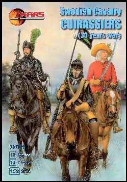 1/72 Thirty Years War Swedish Cavalry Curassiers (12 Mtd) - MARS 72014