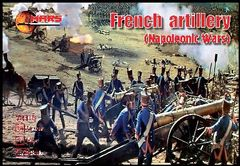 1/72 Napoleonic War French Artillery (16 w/4 Guns) - MARS 72016