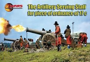 1/72 17th Century Artillery Serving Staff Piece of Ordnance (56) - MARS 72023