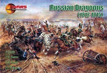 1/72 Napoleonic War 1812-15 Russian Dragoons (12 Mtd) - MARS 72029