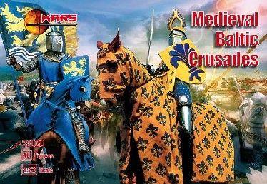 1/72 Medieval Baltic Crusades (36 w/4 Horses) - MARS 72030