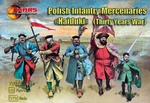 1/72 Thirty Years War Polish Infantry Mercenaries (48) - MARS 72033