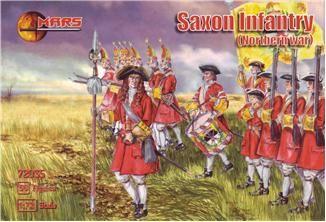 1/72 Northern War Saxon Infantry (56) - MARS 72035