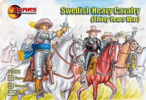 1/72 Thirty Years War Swedish Heavy Cavalry (12 Mtd) - MARS 72036