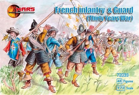 1/72 Thirty Years War French Infantry & Guard (48) - MARS 72039