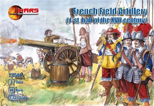 1/72 1st Half XVII Century French Field Artillery (36) w/3 Cannons - MARS 72044