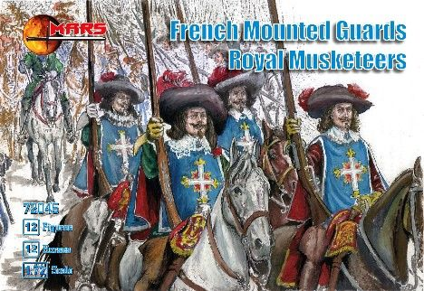 1/72 French Guards Royal Musketeers (12 Mtd) - MARS 72045
