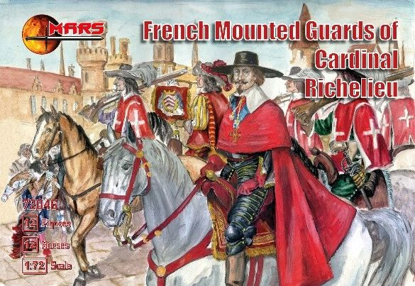 1/72 French Guards of Cardinal Richelieu (12 Mtd) - MARS 72046