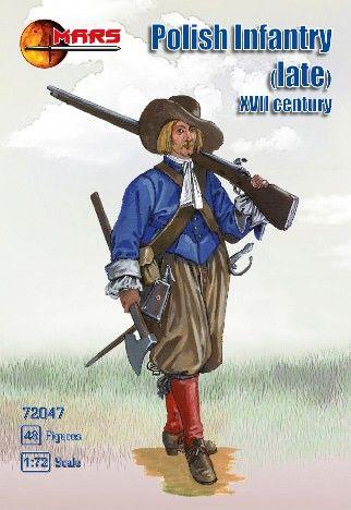 1/72 1st Half XVII Century (Late) Polish Infantry (48) - MARS 72047