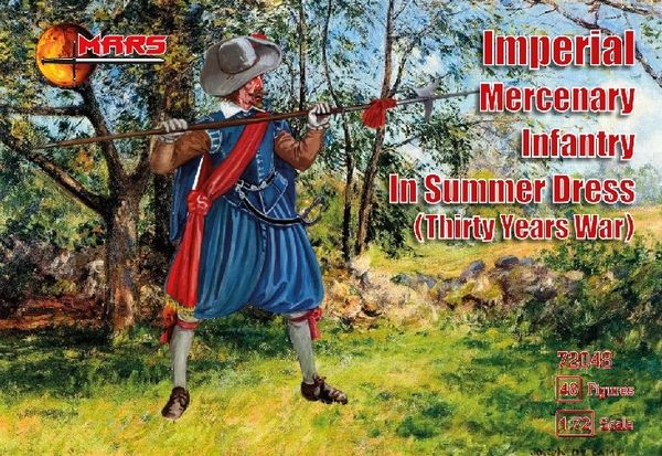 1/72 Thirty Years War Imperial Mercenary Infantry Summer Dress (48) - MARS 72048