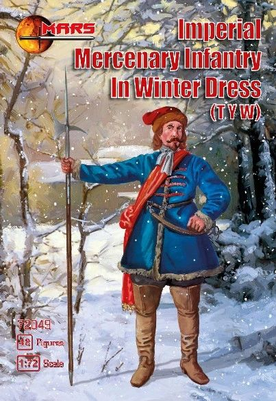 1/72 Thirty Years War Imperial Mercenary Infantry Winter Dress (48) - MARS 72049