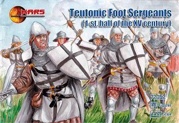 1/72 1st Half XV Century Teutonic Foot Sergeants (48) - MARS 72052