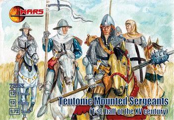 1/72 1st Half XV Century Teutonic Sergeants (12 Mtd) - MARS 72053