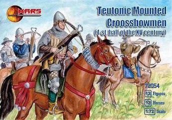 1/72 1st Half XV Century Teutonic Crossbowmen (12 Mtd) - MARS 72054