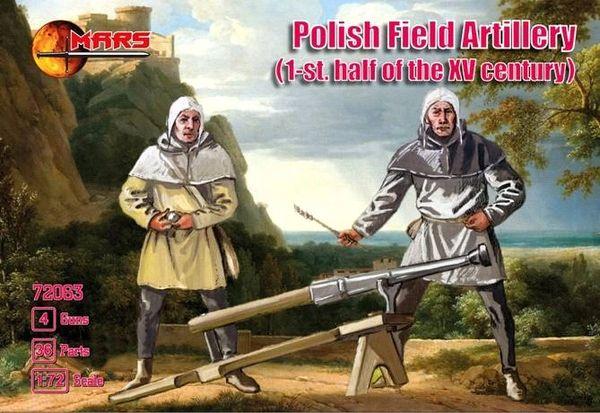 1/72 1st Half XV Century Polish Field Artillery (16) w/Guns (4) - MARS 72063