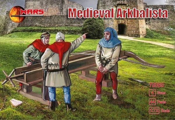 1/72 Medieval Arkbalista (16) w/Guns (4) - MARS 72065