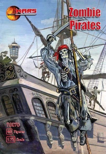 1/72 Zombie (Skeleton) Pirates (48) - MARS 72070