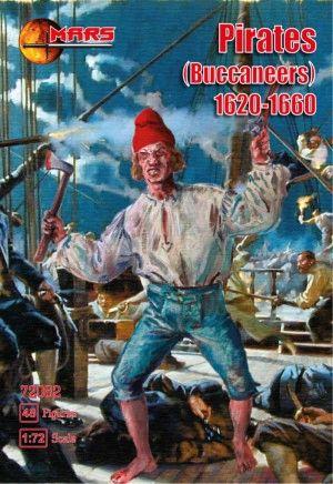 1/72 Pirates (Buccaneers) 1620-1660 (48) - MARS 72082
