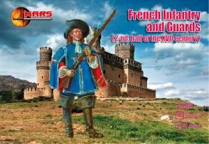 1/72 2nd Half XVII Century French Infantry & Guards (48) - MARS 72083