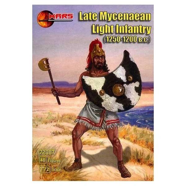 1/72 1250-1200BC Late Mycenaean Light Infantry (40) - MARS 72087