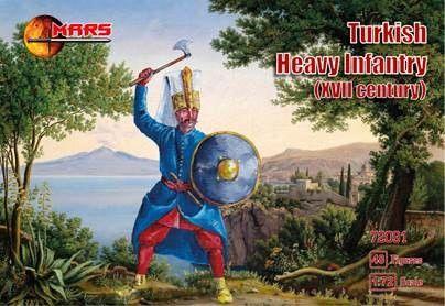 1/72 XVII Century Turkish Heavy Infantry (48) - MARS 72091