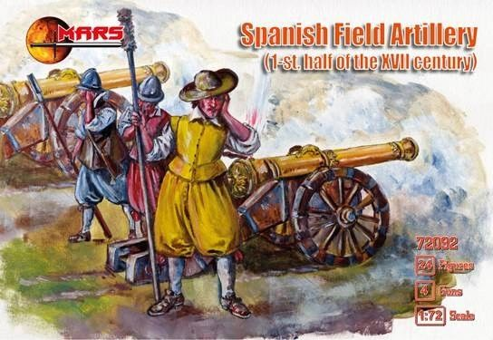 1/72 1st Half XVII Century Spanish Field Artillery (24 w/4 Guns) - MARS 72092