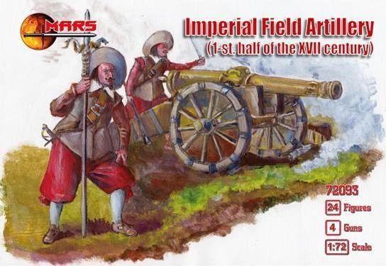 1/72 1st Half XVII Century Imperial Field Artillery (24 w/4 Guns) - MARS 72093