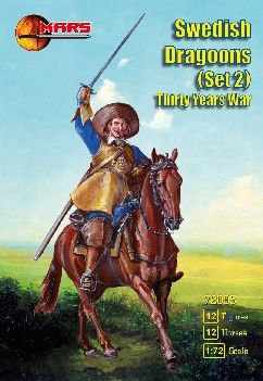 1/72 Thirty Years War Swedish Dragoons Set 2 (12 Mtd) - MARS 72095