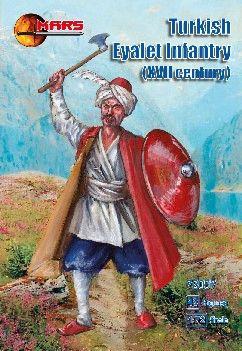 1/72 XVII Century Turkish Eyalet Infantry (48) - MARS 72097