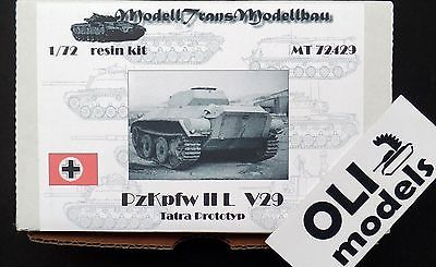 1/72 Panzer II Ausf.L V29 Tatra Prototype RESIN Kit - Modell Trans 72429