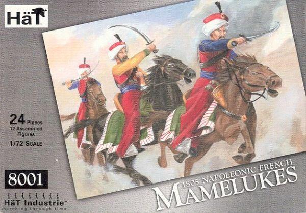 1/72 1805 Napoleonic French Mamelukes(12 Mtd) - HAT-8001