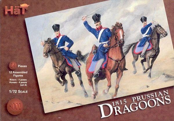 1/72 1815 Napoleonic Prussian Dragoons (12 Mtd) - HAT-8002